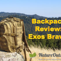 Exos-Gear Bravo Backpack on rock