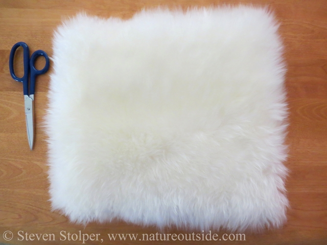 sheepskin square for sit pad