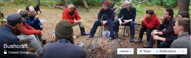 bushcraft facebook group header