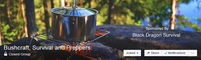 bushcraft survival and preppers facebook group header