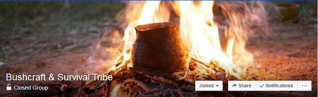 bushcraft & survival tribe facebook group header