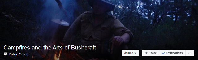 campfires and the arts of bushcraft facebook group header