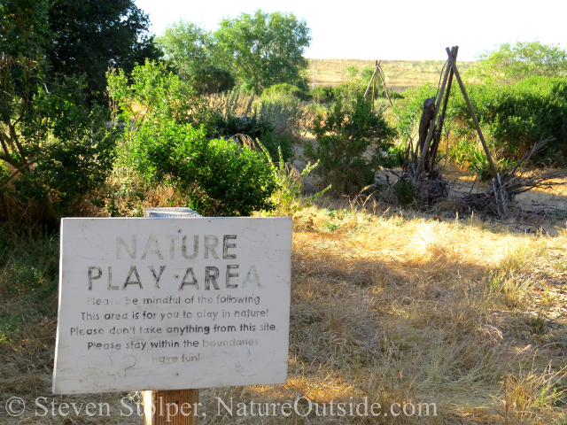 nature play area sign