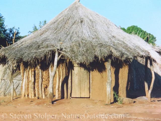 Mud hut in Zambia