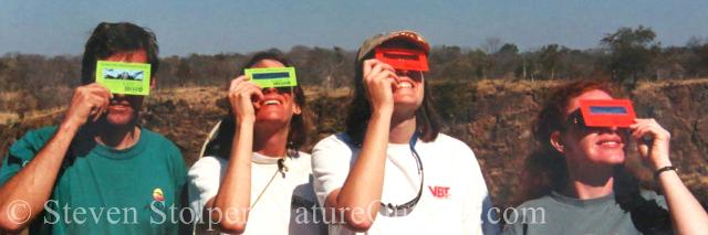 eclipse watchers, Songwe Point village, Zambia