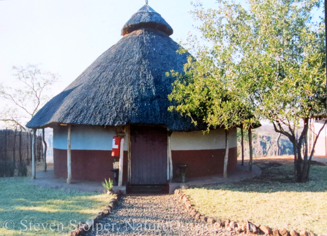 hut for tourists in Songwe Village, Zambia