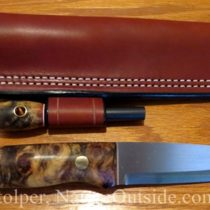 woodlore style bushcraft knife and sheath