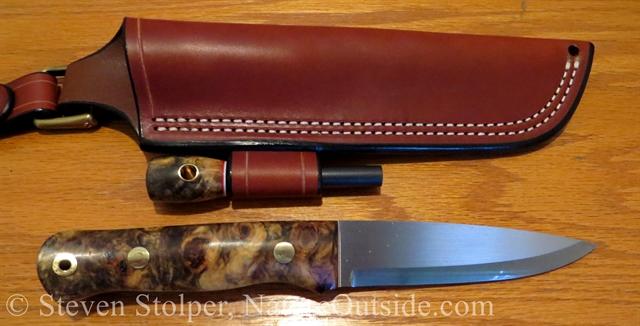woodlore style bushcraft knife and sheath