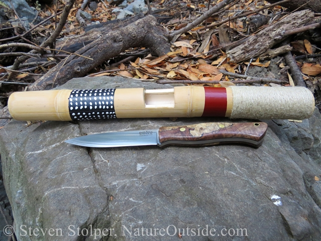 clapper stick and bushcraft knife