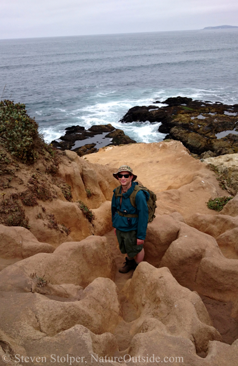 hiker at tomales point